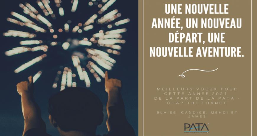 Toute l'équipe PATA Chapitre France vous souhaite une bonne année 2021