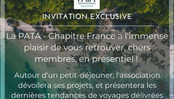 La PATA - Chapitre France organise son premier évènement en présentiel depuis février 2020.